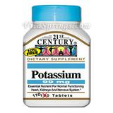 Potassium 99 mg 110 Tablets, 21st Century Health Care