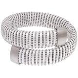 White Caro Coiled Cuff White Gold Bracelet - White - Carolina Bucci Bracelets