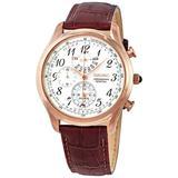 Chronograph Alarm Quartz White Dial Watch - Metallic - Seiko Watches