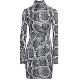 Snake-print Stretch-jersey Turtleneck Mini Dress Animal Print - Black - Just Cavalli Dresses