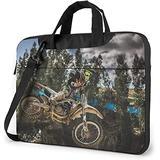Motocross Sport Motorcycle Vehicle Laptop Bag, 15.6 inch Laptop Shoulder Bag Briefcase Office Bag for Men Women, Notebook Computer Case for Laptop and Tablet, Sleek Design & Durable
