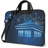 Tardis in The Night with Fireflies Laptop Bag, 14 inch Laptop Shoulder Bag Briefcase Office Bag for Men Women, Notebook Computer Case for Laptop and Tablet, Sleek Design & Durable