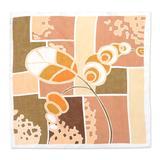 Silk bandana, 'Afternoon Chat'