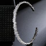WUGDSQGH Bracelet for Women Irregular Ladies Sterling Silver Bracelet Ladies Luxury Jewelry Friendship Bracelet 925 Series 17-18Cm