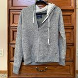 American Eagle Outfitters Tops | American Eagle Outfitters Sherpa Lined Sweatshirt | Color: Gray/White | Size: L