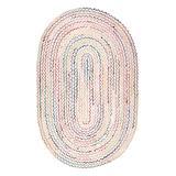 nuLOOM Indoor Rugs Ivory - Ivory Multicolor Tammara Hand-Braided Rug