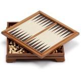 GSE Games & Sports Expert Deluxe 7-In-1 Wooden Chess, Checkers, Backgammon, Dominoes, Playing Cards, Poker Dice, Cribbage Board Game Combo Set