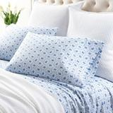 Pine Cone Hill 200 Thread Count Floral 100% Cotton Percale Pillowcase 100% cotton/Cotton/100% Cotton/100% Cotton Percale in Blue, Size Standard