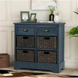 Dovecove Rustic Storage Cabinet Accent Furniture (white) Wood in Blue, Size 28.0 H x 28.0 W x 11.8 D in | Wayfair E502D49457B042A58800AB1D6FEDBC83