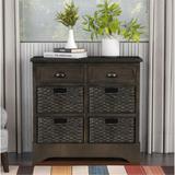 Dovecove Rustic Storage Cabinet Accent Furniture (white) Wood in Gray, Size 28.0 H x 28.0 W x 11.8 D in | Wayfair 44E5739E0B764DCFACC2E5B69C646DFF