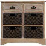 Dovecove Rustic Storage Cabinet Accent Furniture () Wood in White, Size 28.0 H x 28.0 W x 11.8 D in | Wayfair 81CF42F6E788484BA9C511E473D3D0FB