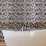 "Walplus 35"" x 47"" Aluminum Peel & Stick Mosaic Tile Metal in Brown, Size 6.0 H x 6.0 W x 0.1 D in | Wayfair WT1608X2"