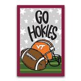 """Virginia Tech Hokies 12'' x 18"""" Team Helmet & Ball Garden Flag"""
