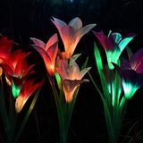 ArtDIY Solar Lights Outdoor Garden Stake Lights - 3 Pack Solar Decorative Lights with Butterfly,Hummingbird,Dragonfly, Multi-color Changing LED Landscape Solar Stake Lights for Garden, Patio, Backyard