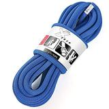 X XBEN Rock Climbing Rope, Static UIAA Mountain Climb Ropes, 10.5MM 32FT Blue Mountaineering Climbing Gear for Rescue, Hiking, Outdoor and Indoor