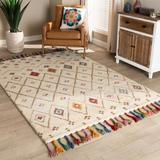 Baxton Studio Cremono Modern Multi-Colored Hand-Tufted Wool Area Rug - Wholesale Interiors Cremono-Beige/Multi-Rug
