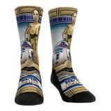 Rock Em Apparel Socks - Star Wars Gold & Blue C-3PO and R2-D2 Hero Pose Socks - Kids & Adult