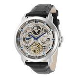 Invicta Men's Watches - Black & Silvertone Objet d'Art Openwork Leather-Strap Watch