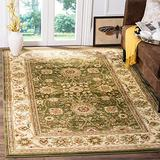 4' X 6' Traditional Polypropylene Oriental Area Rugs - Latex Free Hand Tufted Shabby Chic Design Floral Botanical Pattern Transitional Rustic Ivory Sage Farmhouse Area Rugs - Patio