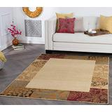 Tayse Sedona Beige 5x7 Rectangle Area Rug for Living, Bedroom, or Dining Room - Transitional, Floral