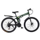 lemon grass 26 Inch Full Suspension Mountain Bike 21 Speed Folding Bike Non-Slip Bike   Wayfair ZMI01YTH200520349