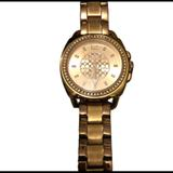 Coach Accessories | Coach Rose Gold Crystal Bracelet Watch W Box | Color: Gold/Red | Size: 9