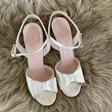 Kate Spade Shoes | Kate Spade Ivory Satin Wedge Heels. Wedding Shoes | Color: Cream/White | Size: 7