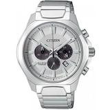 Chronograph Silver Dial Titanium Mens Watch -51a - Metallic - Citizen Watches