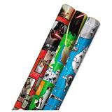 Hallmark Star Wars Wrapping Paper 3-Pack, Black