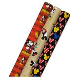 Hallmark Disney's Mickey Mouse Wrapping Paper 3-Pack, Black