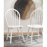 Safavieh Dining Chairs WHITE - White Spindle Back Camden Side Chair - Set of Two