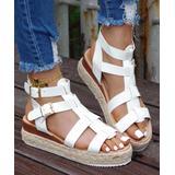 ROSY Women's Sandals White - White Buckle-Accent Platform Espadrille Sandal - Women