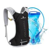 MOMOHOO Hydration Backpack Pack with 2L Hydration Water Bladder, Hiking Backpack for Women, Men, Kids Hydration Backpack for Running, Hydration Pack for Cycling Hydration Camping Climbing (Black)