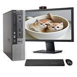 Dell OptiPlex 7010 USFF Computer Desktop PC, Intel i5 3.2GHz, 8GB Ram, 500GB Hard Drive, WiFi & Bluetooth, Wireless Keyboard and Mouse, 22 Inch FHD Monitor, Webcam, Windows 10 (Renewed)