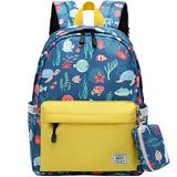 Mygreen Little Kids Toddler Backpacks for Boys and Girls Preschool Backpack With Chest Strap Sea World Yellow