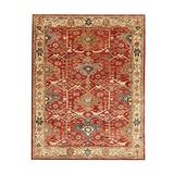 Authentic Pottery Barn 5x8 8x10 9x12 Channing Rust Hand Tufted Wool Rug Woolen Area Rug (9'X12')