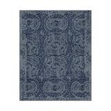 Authentic Pottery Barn 5x8 8x10 9x12 Bosworth Blue Hand Tufted Wool Rug Woolen Area Rug (9'X12')