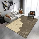 DecorationPaper Modern Abstract Artistic Atmosphere Carpet, Coffee Table Rugs Multicolored Rugs, Soft Low-Pile Area Rug-003_120x160cm