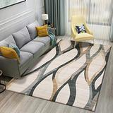 DecorationPaper Modern Abstract Artistic Atmosphere Carpet, Coffee Table Rugs Multicolored Rugs, Soft Low-Pile Area Rug-006_80x160cm