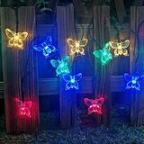 大将 Butterfly Solar String Lights Outdoor, 20/30 LED Waterpoof Solar Lights Home Garden Decor