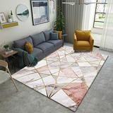 DecorationPaper Modern Abstract Artistic Atmosphere Carpet, Coffee Table Rugs Multicolored Rugs, Soft Low-Pile Area Rug-002_140x200cm
