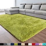 Green Soft Area Rug for Bedroom,3x5,Fluffy Rugs,Shag Rugs for Living Room,Furry Rugs for Boys Kids Room,Shaggy Rug for Nursery Dorm Room,Non-Slip Rug,Green Carpet,Home Decor,Bedside Rug