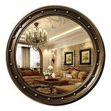 KXA Led makeup mirror Makeup mirror Wall Mirrors for Living Room Gold, Wall Mirror HD Vanity Mirror Large Round Wall Mirror Decorative Living Room Bedroom Hallway
