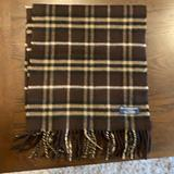 Burberry Accessories   Brown Burberry Scarf   Color: Brown/Cream   Size: Os