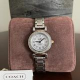 Coach Accessories | Coach Madison White Dial Two-Tone Ladies Watch | Color: Gold/Silver | Size: Os