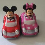 Disney Toys   Disney Mackey And Minnie Mouse Pushgo Race Car   Color: Pink/Red   Size: Osbb