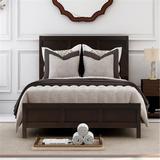 Red Barrel Studio® Classic Full Platform Bed In Rich Brown No Box Spring Needed( Configurable Bedroom Sets) Wood in Brown/Green | Wayfair