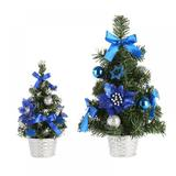 The Holiday Aisle® Blue Pine Christmas Tree & Ball Ornaments in Blue/Green, Size 0.98 H x 3.0 W in | Wayfair BA852BDB746D45369500F884478594A9