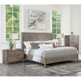 Foundstone™ Dublin Chevron 4 Piece Bedroom Set, Grey Wood in Brown/Gray, Size Queen   Wayfair C39CB4B94E664FF39A188C2B278D3E51