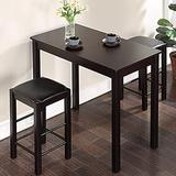 """Savonnerie Furniture Dining Table Set for Kitchen Room (Black, 42"""" Counter Table Set)"""
